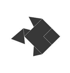 Fish icon origami design graphic vector