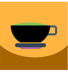 Flat icon design collection cup of tea vector