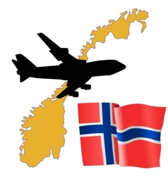 fly me to the Norway vector image vector image