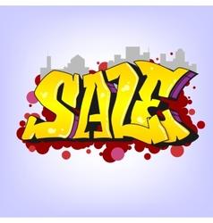 Graffiti style sale inscription urban art vector