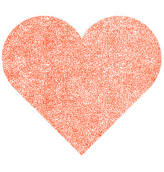heart shape with paint texture vector image