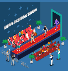 Mens fashion show isometric vector
