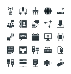 Networking cool icons 1 vector