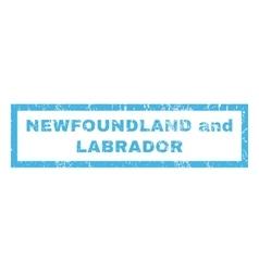 Newfoundland and labrador rubber stamp vector