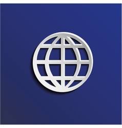 Paper globe vector image