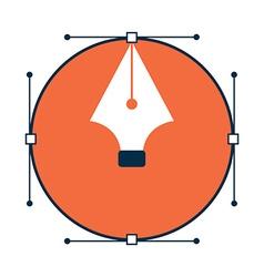 Pen tool design icon vector