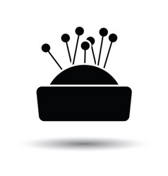 Pin cushion icon vector image vector image