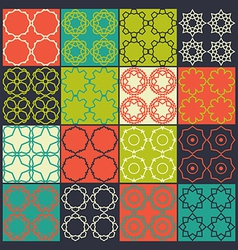 Set of 16 seamless patterns vector image vector image