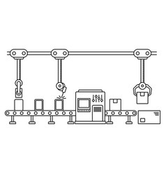 thin line style assembly line vector image vector image