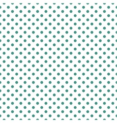 Tile green polka dots on white background vector image
