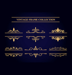 vintage frame collection vector image vector image