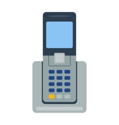 Mobile phone office vector image