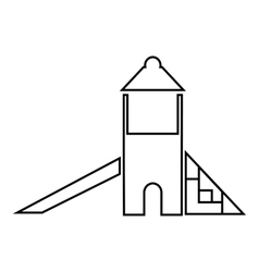 Childrens slide house icon outline style vector