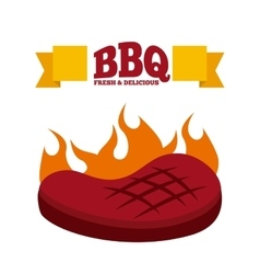 Bbq fresh and delicious design vector