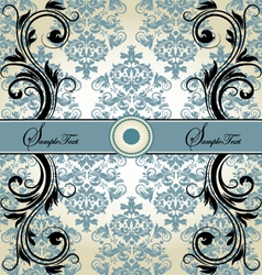 Damask card vector
