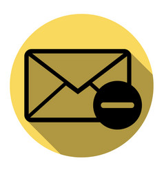 Mail sign   flat black icon vector