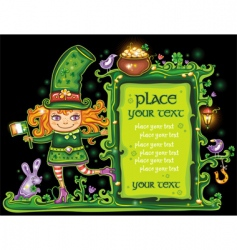 St Patrick's Day frame vector image
