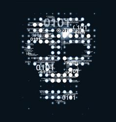 Skull digital background vector