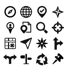 Map gps and navigation icons set vector