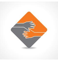 Businessman hand shaking vector image