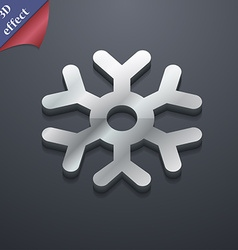 Snowflake icon symbol 3d style trendy modern vector
