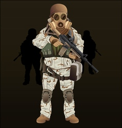 Soldier navy seal vector