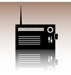 Radio silhouette icon vector