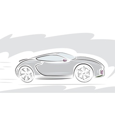 Racing sport car vector