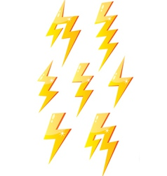 Cartoon lightning vector image