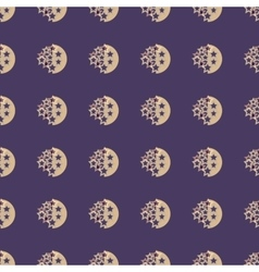 Moon and stars geometric seamless pattern vector