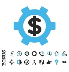 Financial settings flat icon with bonus vector