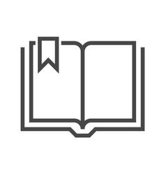 book thin line icon vector image vector image