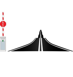 Country road and barrier vector image