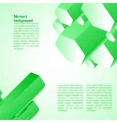 Cristal green ice background vector