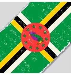 Dominican grunge flag vector