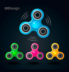 Fidget spinner icons vector