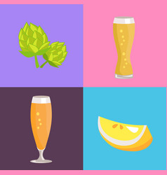 Four beer symbol pictures vector
