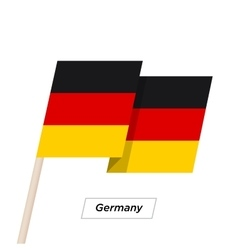 Germany Ribbon Waving Flag Isolated on White vector image