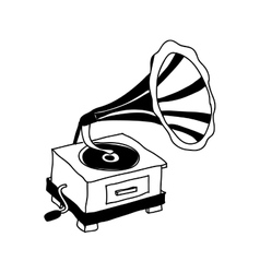 Gramophone retro icon image vector