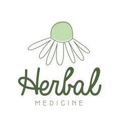 Herbal medicine logo symbol vector