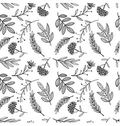 herbal sketch detox seamless pattern design vector image