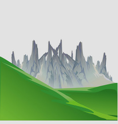 landscape mountain nature travel sky hill outdoor vector image