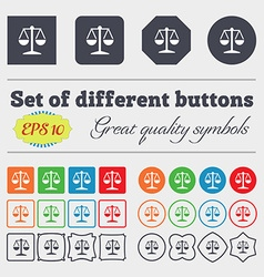 Libra icon sign big set of colorful diverse vector