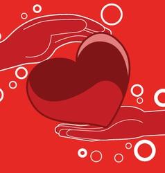 Love heart gift - vector