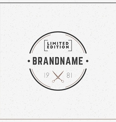Minimal and clean vintage hipster logotype vector