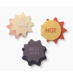 modern big sale and best offer banners vector image