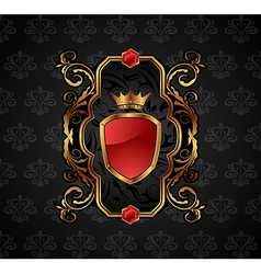 ornate decorative golden frame - vector image vector image