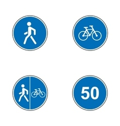 Set of road signs signboards collection of vector