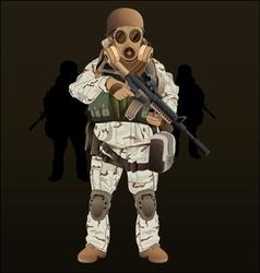 Soldier navy seal vector
