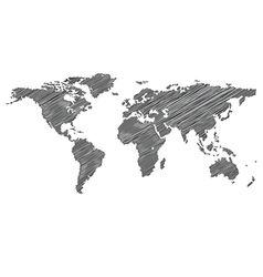 Stylized map of the world vector